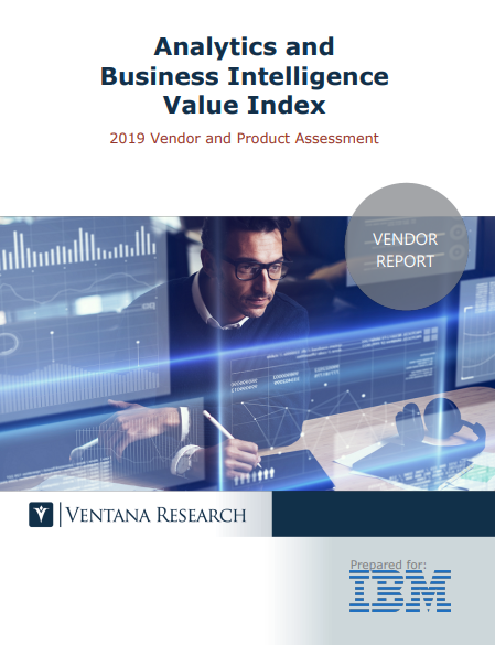 Ventana Research Analytics and Business Intelligence Value Index (Brief) 2019